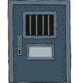 prison door vector image