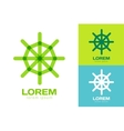 Rudder logo icon logo Navigation symbol vector image