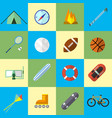 set of icon in flat design style vector image