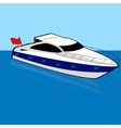 Speed boat vector image