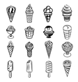 Ice cream icons set simple style vector image