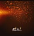 happy diwali fireworks display vector image