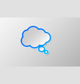 comic think speech bubbles icon vector image