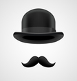 boss gentleman with moustaches and bowler hat vector image vector image