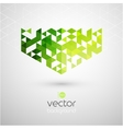 Abstract geometric background with color triangle vector image