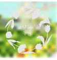 Wreath with tulips vector image