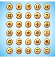 Big set of round buttons cartoon computer game vector image