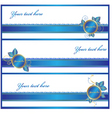 gift wrap banners vector image