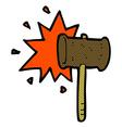 comic cartoon banging gavel vector image