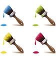 brushes vector image vector image