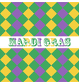 Mardi Gras seamless pattern background vector image