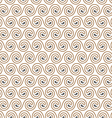 Seamless elegant pattern with swirls vector image