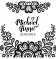 Black and white Lace vector image