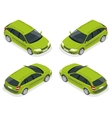 Crossover car isolated on white Flat 3d isometric vector image