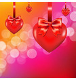 Lights Background With Heart And Bow vector image