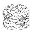 ready burger with all the ingredientsburgers and vector image