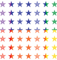 Retro Stars Seamless Pattern vector image