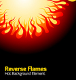 reverse flames vector image
