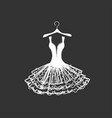 wedding dress silhouette vector image