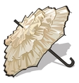 Womens vintage white umbrella vector image