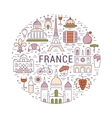 Flat Line Banner Paris and France vector image