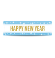 Happy New Year 2017 banner golden text and vector image