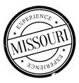 Missouri stamp rubber grunge vector image
