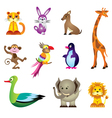 Wild animals toys vector image