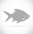 image of an fish design vector image vector image