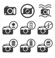 Camera icon set vector image vector image