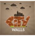 City Walls vector image