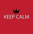Keep calm design elements vector image