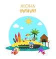 Beach Concept Flat vector image vector image