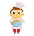 Kid cook cartoon character isolated on white vector image