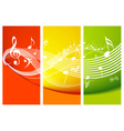 fresh music theme vector image vector image