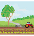 tractors and agricultural affairs vector image