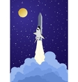 launching a spacecraft vector image