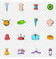 Tailor set icons vector image vector image
