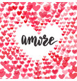 amore love in italian original custom hand vector image