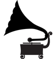 Antique gramophone vector image