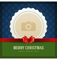 Christmas retro greeting card and place for photo vector image