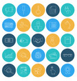 flat lines icons seo and internet electronic vector image