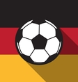 football icon with Germany vector image