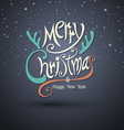 Merry christmas greeting card lettering 2015 vector image
