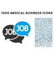 Labor Market Icon with 1000 Medical Business vector image
