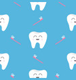 pattern seamless brush tooth health cute funny vector image