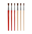 Set of paint brushes vector image