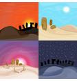 beautiful desert landscapes set vector image