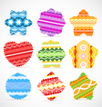 Colorful Christmas baubles collection vector image