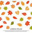 colorful fall of leaves background vector image
